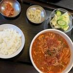 元山食堂 - ユッケジャンスープご飯付900円
