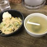 101242249 - サラダ・スープ(本日のサービスランチにセット分)