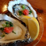 港の牡蠣センター カキ小屋 - 米崎産