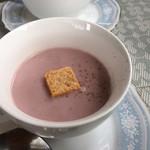 101249477 - 紫芋のポタージュ美味しかった