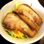 福々麺 - まぜ油麺 チャーシュー+サラダ