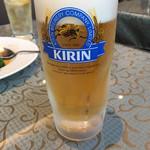 梅蘭 - 生ビールは、一番搾りでした