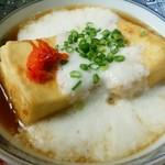卯月寿司 - 揚げ出し豆腐に山かけがよくあう