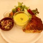 キャットカフェ てまりのおしろ - 料理写真:キッシュプレート