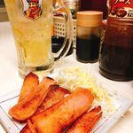 トウキョウ立呑倶楽部 - 魚肉ソーセージ焼き