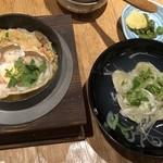 101277534 - ずわい蟹と京湯葉の甲羅釜飯 お吸物と漬物セット