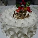 101277789 - シフォン(プレーン)のクリスマスケーキ