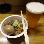 清水屋 - もつ煮と生ビール