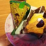 Fujiyaresutoran - モンブラン、下はスポンジとミルククリームでした。