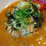 福島壱麺 - 伊勢海老カラスミのっけ麺-わさび飯ダイブ