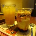 上島珈琲店 - ヨーグルト&オレンジジュース