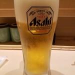 グルメ廻転寿司  まぐろ問屋 三浦三崎港 恵み - 生ビール2019.2.2
