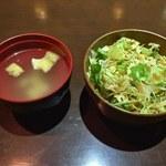 家帝 - ランチのサラダ、スープ