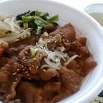 ホルモン焼肉 牛モン - 料理写真:牛カルビ丼