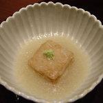 柳庵 - クルミ豆腐の揚げ出し
