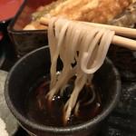 魚菜酒蔵 だいがく - 石臼挽きの、国産上級粉を使う、自家製のお蕎麦です(2019.2.4)