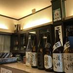 魚菜酒蔵 だいがく - 夜は居酒屋になるため、魅力的なお酒が並びます♪(2019.2.4)