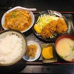 わぶ - かきフライ+肉豆腐(1,100円)