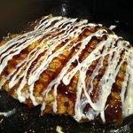 串玄 - 牛スジお好み焼き完成
