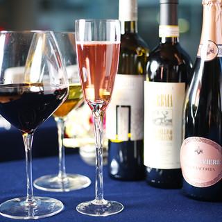 種類豊富に取り揃えたイタリア産ワイン