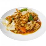 鶏肉とカシューナッツの炒め/四川風回鍋肉/鶏肉とピーナッツの四川風炒め