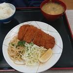 魚忠食堂 - 料理写真:ロースカツ定食