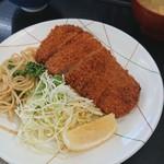 魚忠食堂 - ロースカツアップ