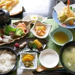 四季膳 清香 - 料理写真:天麩羅刺身御膳 1,800円