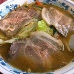 あさひ食堂 - 料理写真:「みそチャーシュー」・ニンニクがタップリ効いたスープは身体に沁みるウマさです。