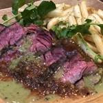 牛ハラミ肉のグリルwith フライドポテト