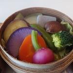 スプーン - 香味野菜のせいろ蒸し