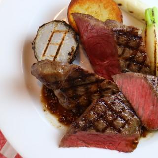 当店イチオシ!宮崎県尾崎牛もも肉のステーキ