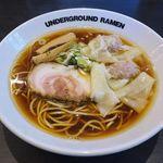 アンダーグラウンド ラーメン - 料理写真:アンダーグラウンドラーメン(ワンタン中華そば 1,080円)