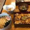 蕎麦ダイニング 喜楽庵 纔 - 料理写真:半たぬきそば・半イカ天丼