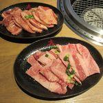 焼肉DINING大和 - 和牛上カルビ 塩×2、タレ×2(2019/01/27撮影)