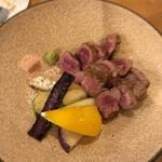海鮮鉄板 やまおか食堂 - 和牛のステーキ