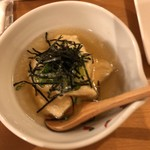 海鮮鉄板 やまおか食堂 - 自家製揚げ出し豆腐