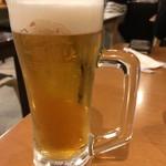 海鮮鉄板 やまおか食堂 - 生ビール