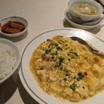 101349481 - 蟹肉と豆腐の辛味煮込み