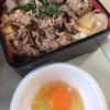 駅ナカ食堂 - 料理写真:すき焼き丼タマゴ別
