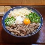 Sanukiudonharushin - 肉ぶっかけ 1,260円税込 (温・2玉) 別添えでたっぷりの生姜。