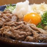 Sanukiudonharushin - 肉ぶっかけ(温・2玉)