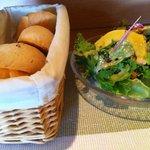 ポンムドテール - パンとサラダ