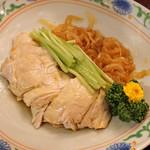 """天祥 - 料理写真:2種の前菜  """"くらげ"""" と """"蒸し鶏"""" の盛り合せ"""
