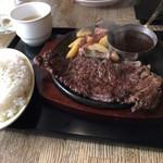 101367174 - ロース肉の炭焼きステーキ200g@1000円