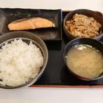 吉野家 - 料理写真:牛鮭定食