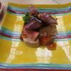 鮨割烹 なか一 - 料理写真:蛍烏賊・鮟肝・海老・貝柱・菜の花にジュレをかけて