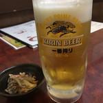 さかな処 三吉 - 生ビールはキリン一番搾りです