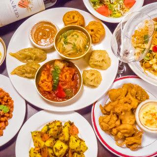 ネパールの美味い!が詰まった各種コース飲放題付2480円~♪