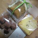 コロンボ - 料理写真:3種類の焼菓子を買ってみました